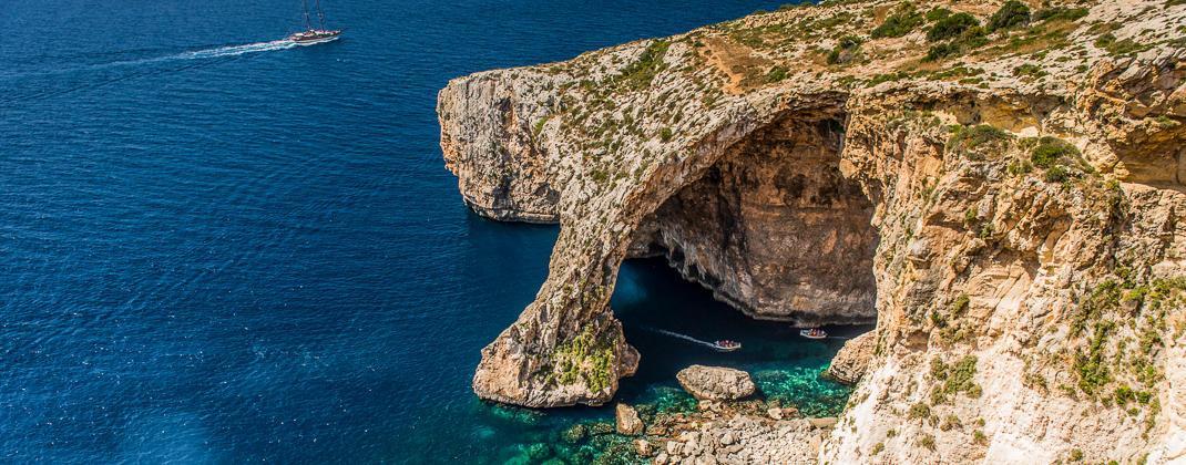 Blue Grotto tekne gezisi