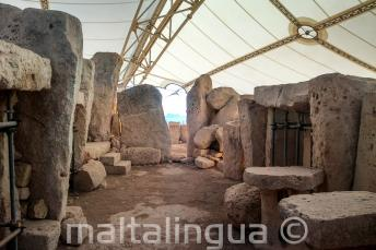 Prehistorik Hagar Qim'de Tapınaklar
