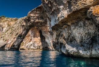 Blue Grotto, Malta'da bir deniz kemeri