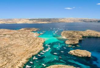 Mavi Lagün, Comino, Malta hava fotoğrafı