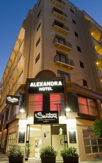A photo of the front of the Alexandra Hotel in St. Julians, Malta.